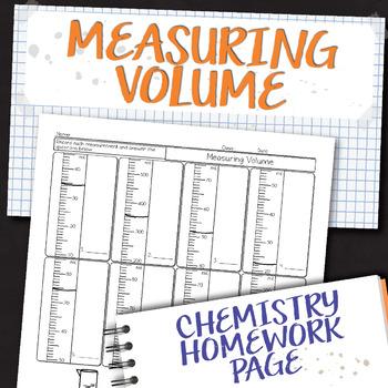 Measuring Volume Chemistry Homework Worksheet