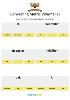 Measuring Volume & Mass: Converting Metric Volume (L) 1