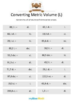 Measuring Volume & Mass: Converting Metric Volume (L) 5