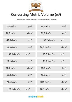 Measuring Volume & Mass: Converting Metric Volume (m3) 5