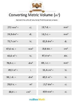 Measuring Volume & Mass: Converting Metric Volume (m3) 6