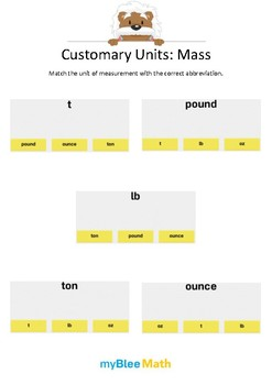 Measuring Volume & Mass: Customary Units – Mass – 4th and 5th Grades