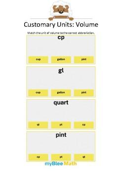Measuring Volume & Mass: Customary Units – Volume 1