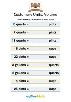 Measuring Volume & Mass: Customary Units – Volume 3