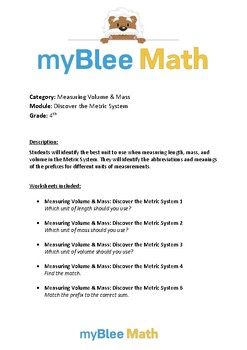 Measuring Volume & Mass: Discover the Metric System – 4th Grade