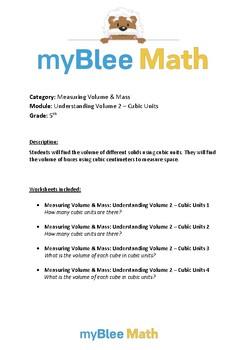 Measuring Volume & Mass: Understanding Volume - Cubic Units 2 – 5th Grade