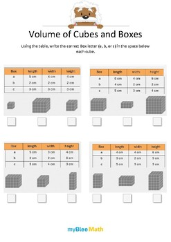 Measuring Volume & Mass: Volume of Cubes and Boxes 2