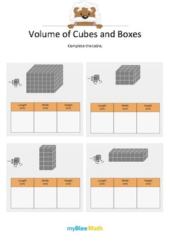Measuring Volume & Mass: Volume of Cubes and Boxes 3