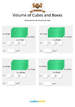 Measuring Volume & Mass: Volume of Cubes and Boxes 4