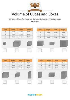 Measuring Volume & Mass: Volume of Cubes and Boxes – 5th Grade