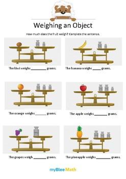 Measuring Volume & Mass: Weighing an Object – Kindergarten