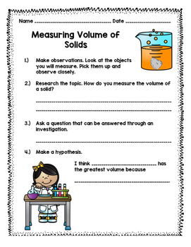 Measuring Volume of Solids