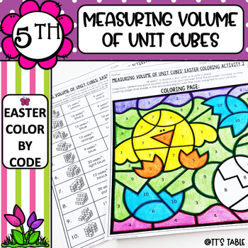 Measuring Volume of Unit Cubes Easter Coloring Activity (2)