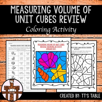 Measuring Volume of Unit Cubes Review Coloring Activity