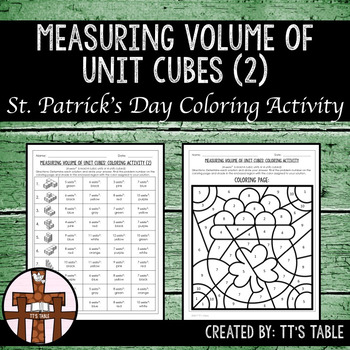 Measuring Volume of Unit Cubes St. Patrick's Day Coloring Activity (2)