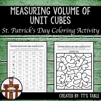 Measuring Volume of Unit Cubes St. Patrick's Day Coloring Activity (1)