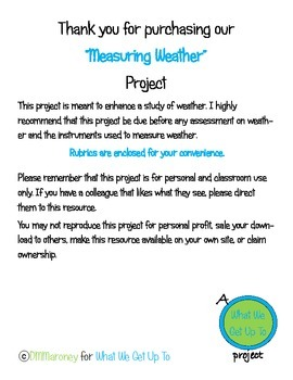 Measuring Weather Project