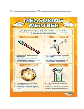 Measuring Weather STUDY GUIDE 4th Grade Science