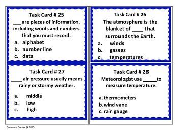 Measuring Weather Task Cards