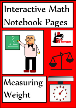 Measuring Weight Lesson for Interactive Math Notebooks