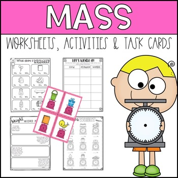 Measuring Weight/Mass Metric Activities and Worksheets