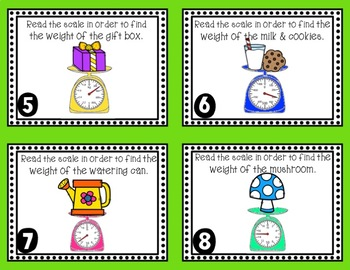 Measuring Weight Task Cards