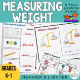 Heavier and Lighter Worksheets