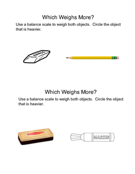 Measuring: Which Weighs More?