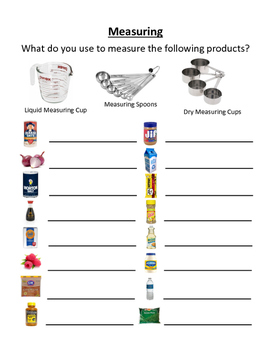 Measuring Worksheet