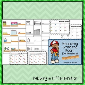 Measuring Write the Room Bundle {Inches and Centimeters}
