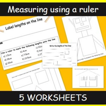 Measuring Activities Using A Ruler To Measure Lines And Shapes Tpt