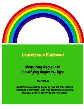 Measuring and Classifying Angles- St Patrick's Day Practice