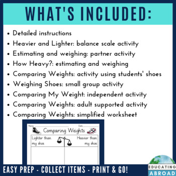 Measuring and Comparing Weight: 8 Practical Activities for Math Stations