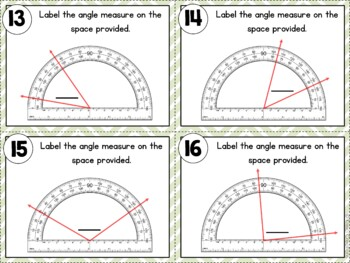 Measuring and Constructing Angles Task Cards