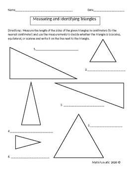 Measuring and Identifying Triangles