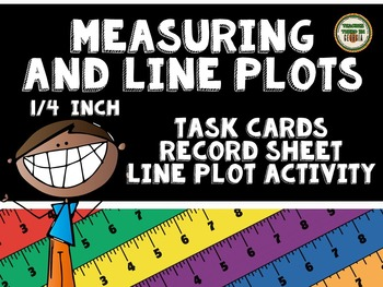 Measuring and Line Plots Activity Set- Task Cards, Line Plot Activity
