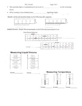 Measuring and Metric Worksheet