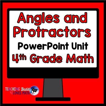 Measuring Angles with Protractors Math Unit 4th Grade Common Core