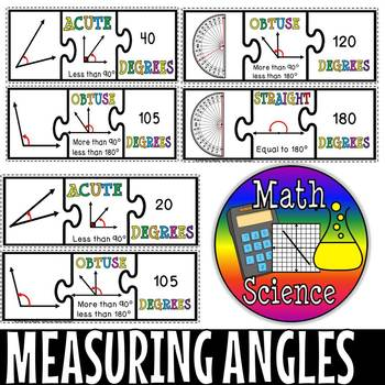 Measuring angles Puzzle cards