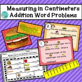 Measuring in Centimeters Addition Word Problems