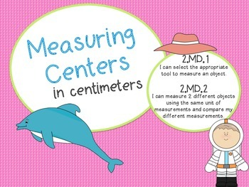 Measuring in Centimeters Centers! Measure, Compare, and Write!