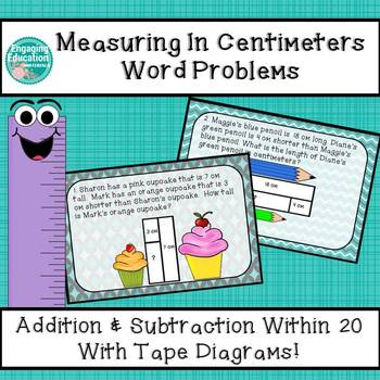 Measuring in Centimeters Word Problems using Tape Diagrams