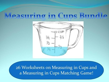 Measuring in Cups Bundle