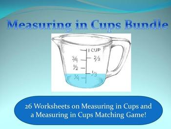 Measuring in Cups Bundle