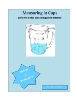 Measuring in Cups (Circle cups containing given amounts)