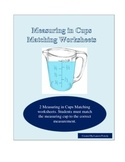 Measuring in Cups-Matching Worksheets