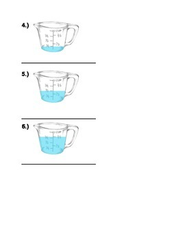 Measuring in Cups (Write the correct measurement amount)