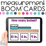 Measuring in Inches Boom™ Cards - Distance Learning for Sp