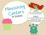 Measuring in Inches Centers! Common Core Aligned!