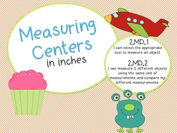 Measuring in Inches Centers! Common Core Aligned!